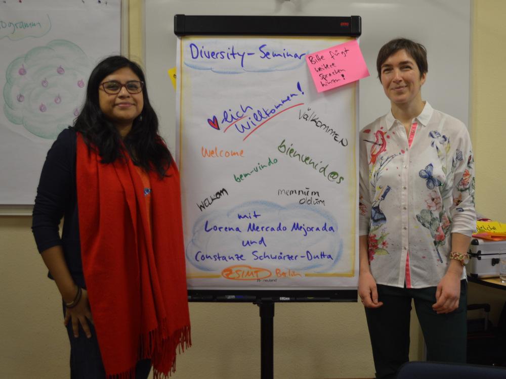 Constanze Schwärzer-Dutta und Lorena Mercado